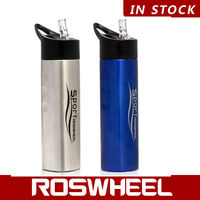 ROSWHEEL stainless steel water bottle with straw