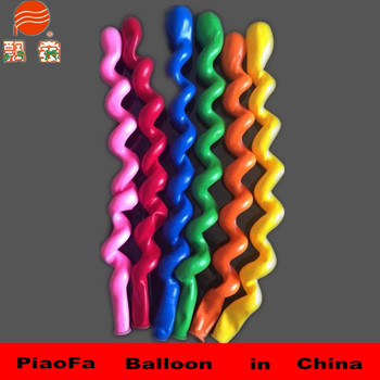magic spiral latex helium stick balloons for kids toys
