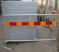 Galvanized Tubular Crowd Control Barrier Steel Loose Foot Crowd Barrier