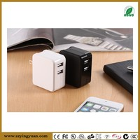 DUAL USB CHARGER IN WHITE OR