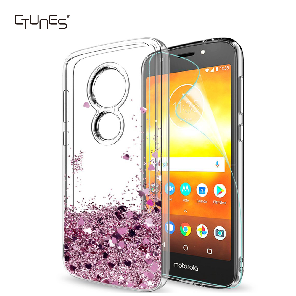 For Moto E5 Play Glitter Case,Liquid Shiny Bling Clear TPU Protective Phone Case for <strong>Motorola</strong> Moto E5 Play