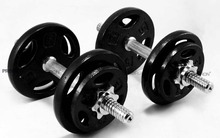 PROIRON 20kg Cast Iron Adjustable Dumbbell Set Hand <strong>Weight</strong> with Solid Dumbbell Handles Changed into Barbell