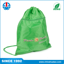 Fugang Factory Green Soft Cloth Drawstring Bags Nylon With Wholesale Price