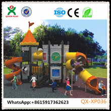 Big spiral slide children's playground sets childrens large slide QX-XP036