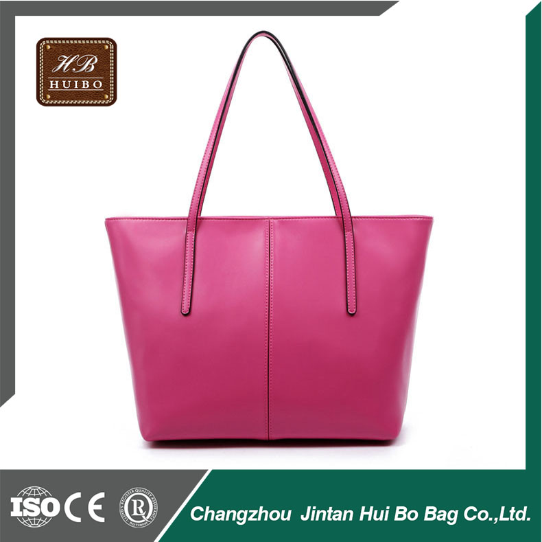 Best selling artificial leather women tote bag with custom logo