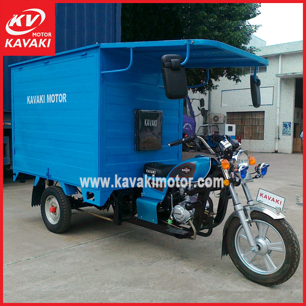 Chinese closed body mobility tricycle auto tekerlekli spare parts for CKD