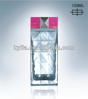 french square glass bottle