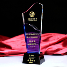 Wholesale crystal craft and gifts office decoration new design crystal trophy award