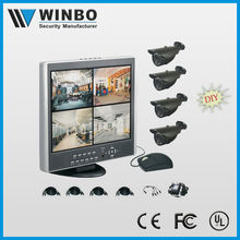 Security System & Security Camera outdoor 4 CH LCD dvr kit