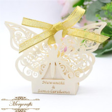 Birthday baby shower party wedding butterfly laser cut ivory favor gift box