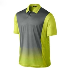 Dry fit men yellow polo golf shirts sublimated print polo golf shirts