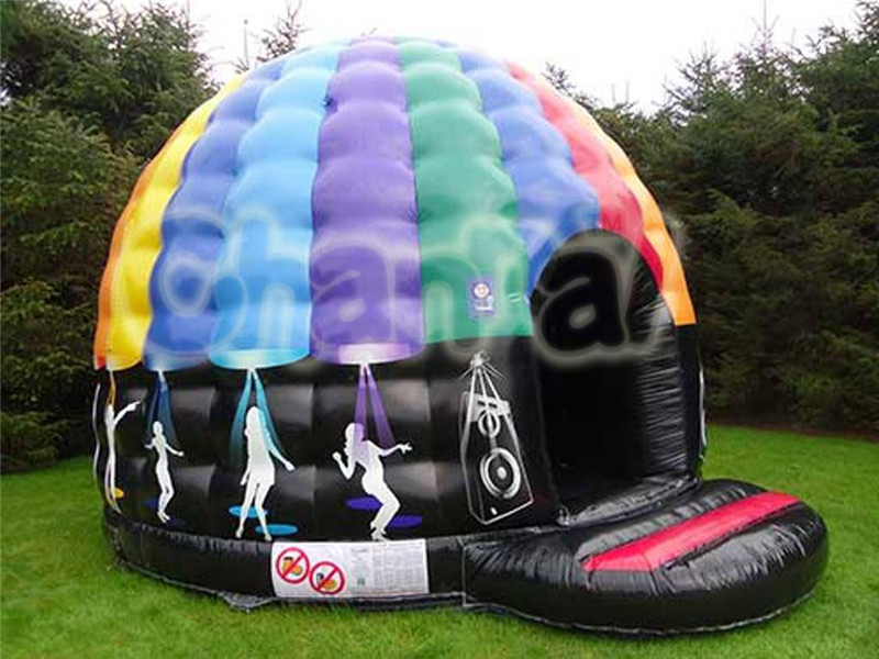 2015 new designed colorful disco inflatable tent, colorful inflatable dome tent