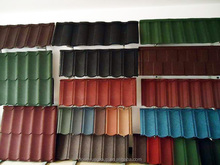 keystone natural coral stone outdoors roof tile/heavy roof tiles/stone coated steel roofing