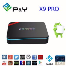 Android tv box Pendoo X9 pro s912 amlogic support 4k wifi smart pendoo x9 pro tv box