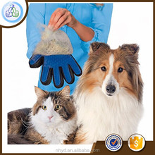 Customized True Touch Deshedding Glove Dog grooming brush Pet Grooming glove