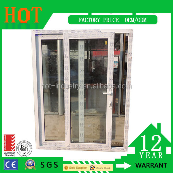 High Quality Aluminum Vertical Sliding Window Accept Blind Inside Double Glass Window High Quality Toughened Glass Window
