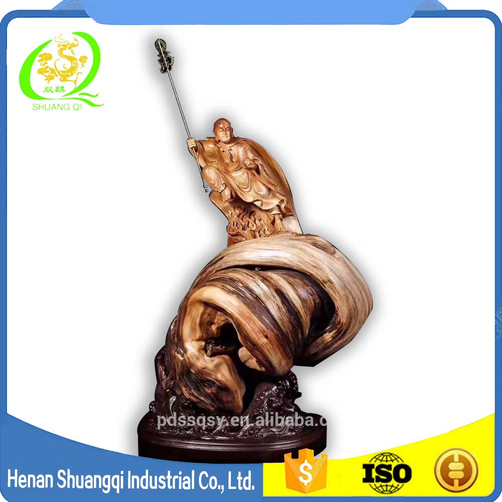 New procucts wooden root carving the Buddha of Ksitigarbha wooden statue
