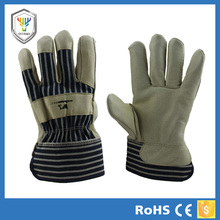 Amazing insulated leather work gloves pig leather material