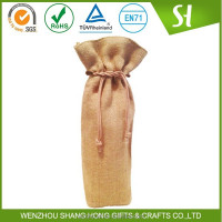 Alibaba China Cheap customized Printed burlap fabric wine bottle jute bag