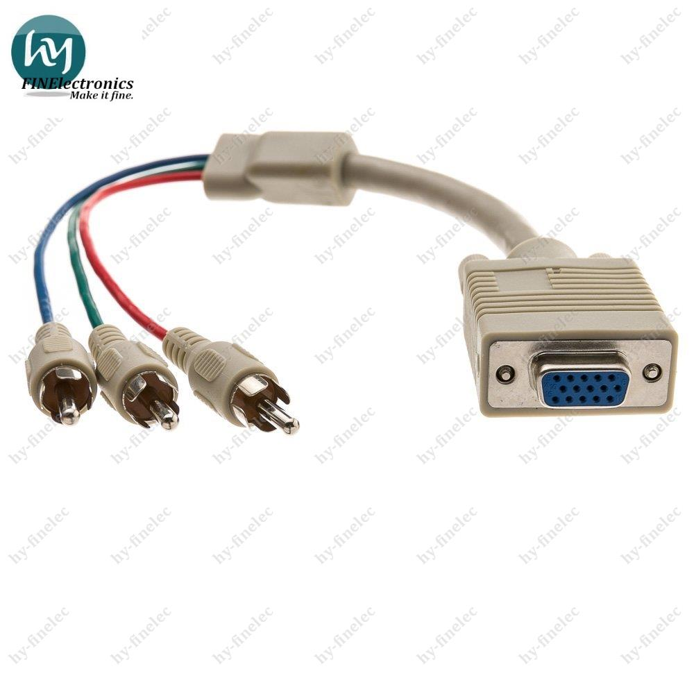 VGA to Component Video Adapter HD15 Male to 3 x RCA Male