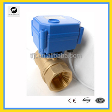 "DC12V,DC9-24V,AC220V BSP 1 inch motorized ball valve with electric actuat of New Brass BSP 1/4-1"" for drinking water"