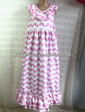 Best selling ! girls elegant backless dress zig zag parttern cotton dress backless halter dress