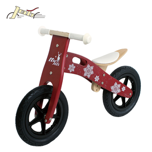 Christmas Kids Wooden Balance Bicycle EN71 with EVA tire