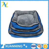 hot sale waterproof bed for dog solid pet bed oxford & plush pet bed