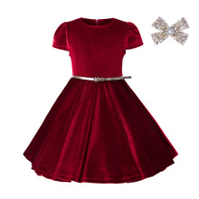 Ball Gowns For Children Dress Girl Christmas Kids Velvet Girl Dresses