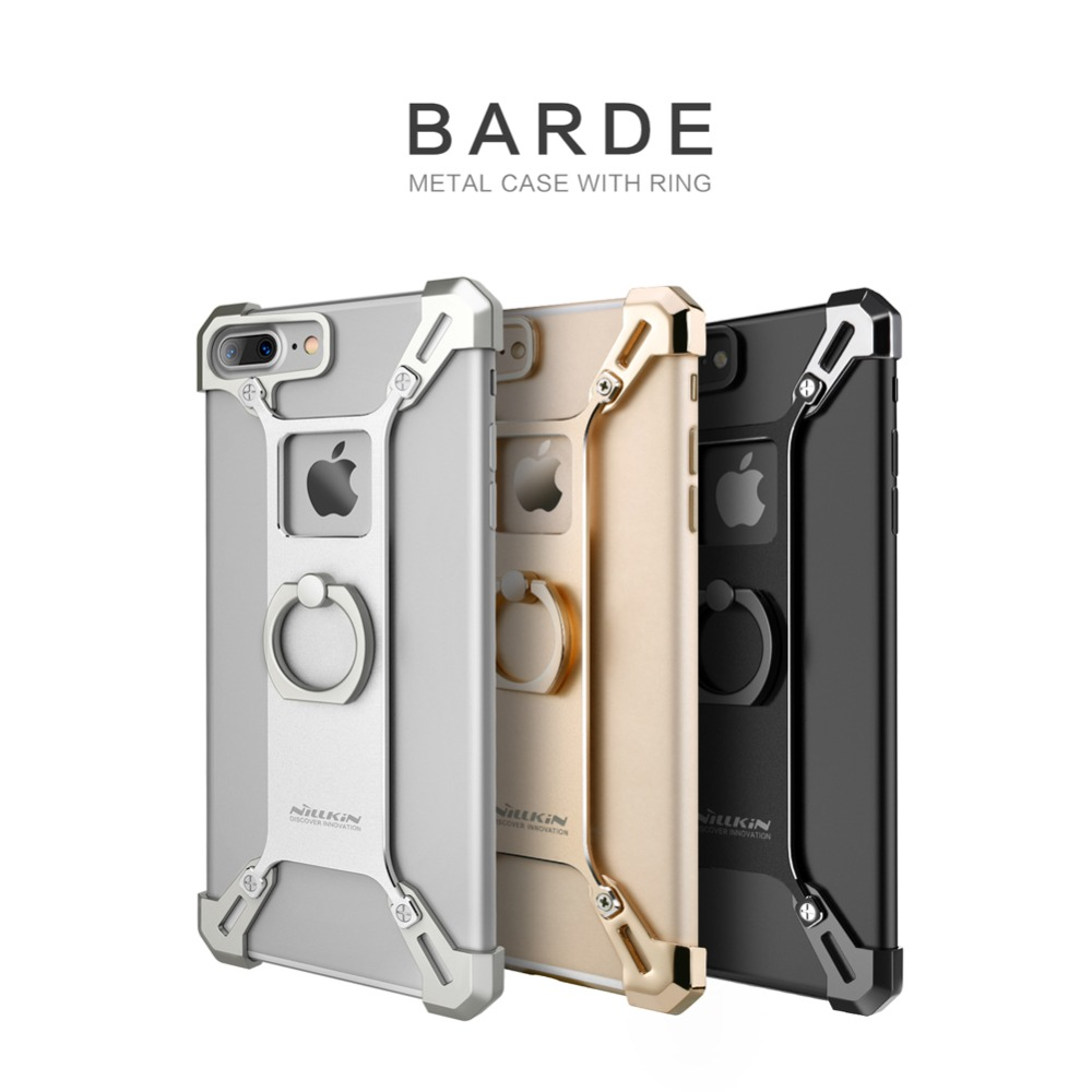 Nillkin Barde Metal Case with Ring Shape Holder for Apple iPhone 7 / 7 Plus Back Cover Case with Retail Package