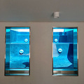 PG Underwater Windows Acrylic Swimming Pool Cover Reel