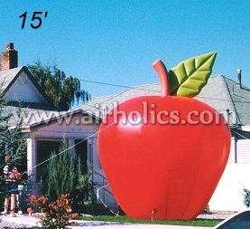 Lovely advertising Giant inflatable apple for advertising, inflatable red apple,inflatable friut H3177