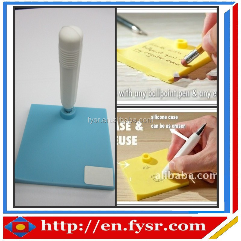 2015 hot sale new design silicone pocket waterproof memo pad for students