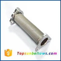Flexible metal bellows expansion joints with swivel flange for oil dispenser