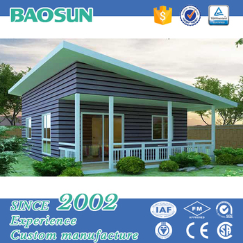 LGS fast constructed fiber cement board decorated prefabricated granny house for sale