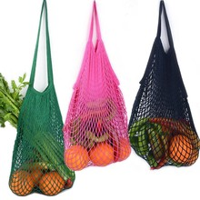 Reusable String Shopping Grocery Bag Fruit Cotton Net Mesh Bag