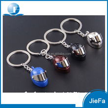 Promotional souvenir custom design metal keychain safety helmet