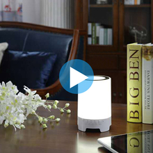 Amazon hot selling Wireless Bluetooths Speaker table decorative Light, Music Desktop Lamp with Bluetooths Speaker