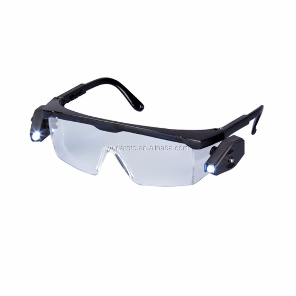 SG1001-LED CE EN166 ANSI Z87.1 working glasses Safety glasses with LED light