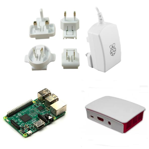 Raspberry PI 3 model B offical package include raspberry pi 3+ offical case+ offical power supply