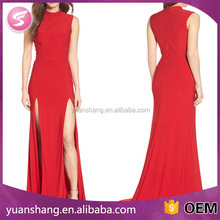 Young Ladies Sexy Summer Double Slit Long Bodycon Dress