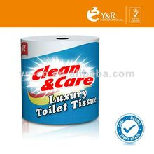 Jumbo toilet tissue paper roll customized printed