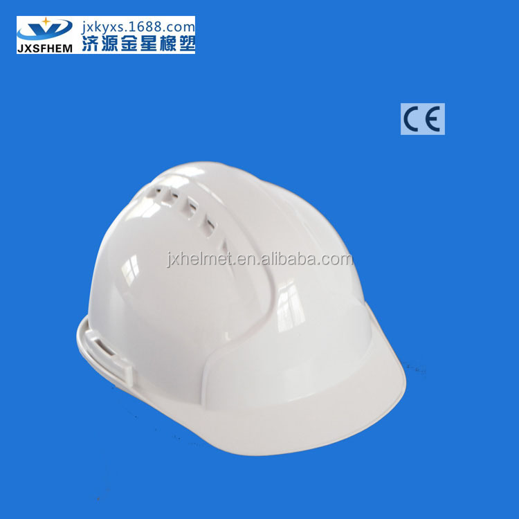 ABS industrial safety hard hat ce en397 approved white colors with chin strap