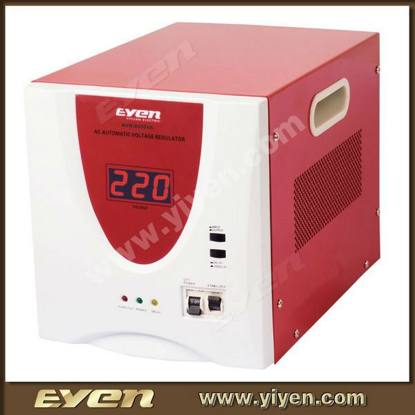 MCU controlled circuit 10KVA LED type relay automatic voltage regulator stabilizer