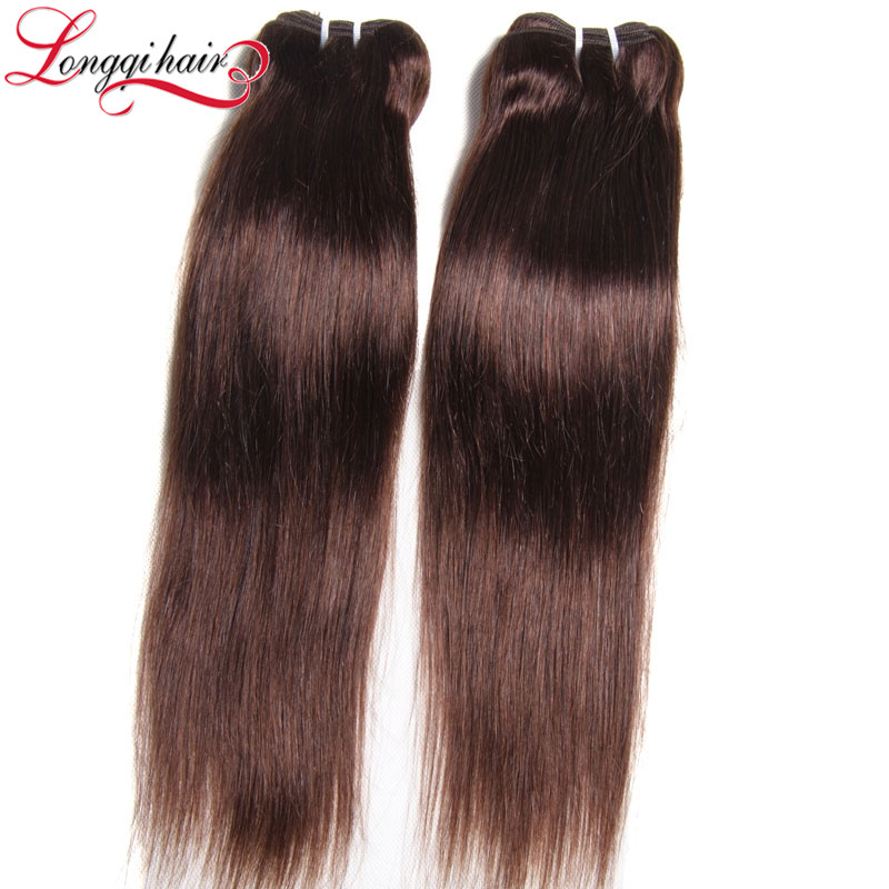 Malaysian Virgin Bohemian Hair Straight Hair Copper Brown Hair Color