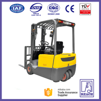 2 ton three wheel AC motor powered full electric forklift stacker truck