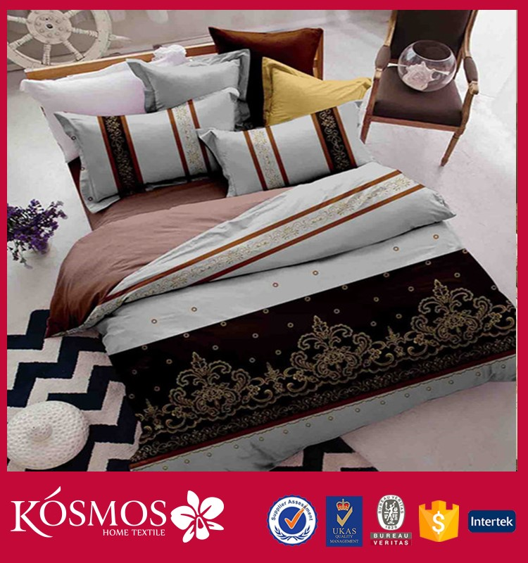 KOSMOS home textile new design 100% polyester 90gsm microfiber bedding set 4pcs bed sheet brand names