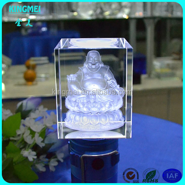 Believing Personalized 3d Laser Crystal Engraving Buddha