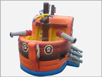 Funny inflatable pirate boat, Big boat Inflatable Bouncer/Jumper for kids
