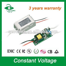 plastic case ip20 constant voltage power supply 12v 3w led driver 250ma